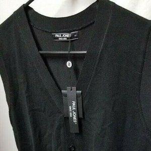 PAUL JONES Men's Casual Knitting Sweater Waistcoat